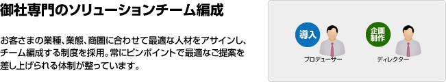 御社専門のソリューションチーム編成